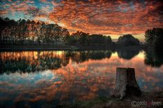 A mother nature's gift #1 - Po River nearby Carignano, Piedmont, Italy   Landscape Photography by Paolo De Faveri