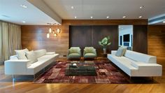 Poltrona Frau Quadra Sofa in a Contemporary Living Room. Design by Rajiv Saini.