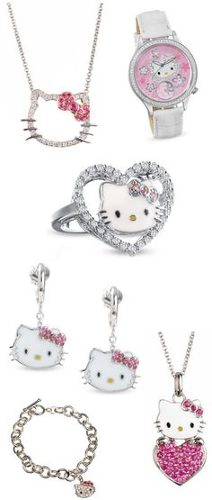 hello kitty jewelry at zales just for Ashley! Hello Kitty House, Hello Kitty Items, Here Kitty Kitty, Hello Kitty Jewelry, Hello Kitty Accessories, Miss Kitty, Hello Kitty Collection, Cat Ring, Diamond Are A Girls Best Friend