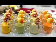 Christmas Dishes, Canapes, Mini Cupcakes, Starters, Just Desserts, Finger Foods, Sushi, Panna Cotta, Brunch