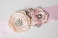 Wedding Belt - Bridal Sash - Bridal Belt - Bridesmaid Sash - Wedding Dress Sash - Maternity Sash