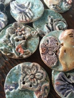 Pottery buttons by Beata Jarmolowska