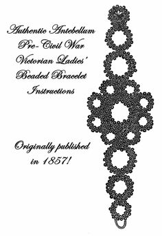 Bracelet Pattern Antebellum Civil War Crochet Bead 1857