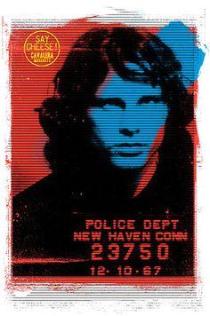 Jim Morrison Mugshot located t-shirt print designed by me for Cavalera A/W 2012