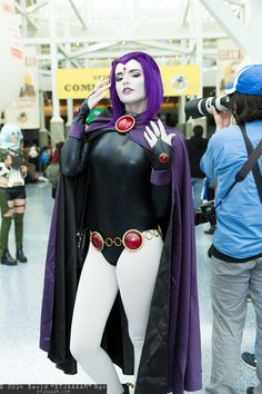 Character: Raven / From: DC Comics 'Teen Titans' / Cosplayer: Abby Normal Cosplay / Event: Comikaze Expo 2014