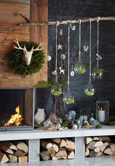 winter weihnachten Instead of a Christmas tree this year we adorn a charming tree of branches Noel Christmas, Christmas 2017, Rustic Christmas, Simple Christmas, All Things Christmas, Winter Christmas, Christmas Crafts, Christmas Branches, Christmas Tables
