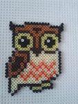 Hama perler beads owl by ~a-mah on deviantART Melty Bead Patterns, Hama Beads Patterns, Owl Patterns, Beading Patterns, Perler Beads, Fuse Beads, Hama Beads Animals, Beaded Animals, Owl Perler