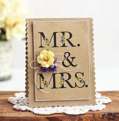 Mr. & Mrs. Card by Laurie Schmidlin for Papertrey Ink (March 2017)