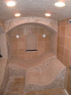Steam Room Design, Pictures, Remodel, Decor and Ideas - page 6 Steam Showers Bathroom, Bathroom Spa, Bathroom Renos, Shower Tub, Bathroom Renovations, Shower Seat, Home Steam Room, House Decorating Games, Interior Design And Construction