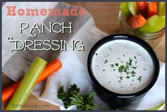 Homemade Ranch Dressing Without All the Junk – Homemade ranch dressing is a little slice of heaven - it's so delicious and because you're able to control the ingredients you can even make it healthy!