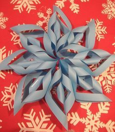 Learn to make these paper snowflakes! See more party ideas at CatchMyParty.com! #crafts #diy #paper #snowflakes #christmas #winter #holidays