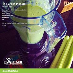 """This """"Green Monster"""" recipe adds a little green to your daily shake routine. Try it today!"""