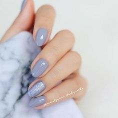 Perhaps you have discovered your nails lack of some fashionable nail art? Yes, recently, many girls personalize their nails with beautiful … Nagel Stamping, Gray Nails, Pastel Blue Nails, Pastel Grey, Colorful Nails, Nude Nails, Nagel Gel, Accent Nails, Perfect Nails
