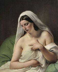 Francesco Hayez -- 1838-1840. Italian Painters, Italian Artist, Oil On Canvas, Canvas Art, Ouvrages D'art, Pierre Auguste Renoir, Italian Renaissance, Renaissance Art, Figure Painting