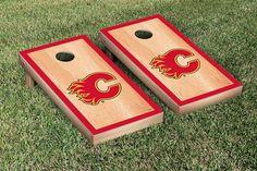 Calgary Flames® NHL® Regulation Cornhole Game Set Hardcourt Border Version
