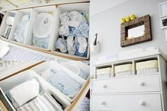great changing table and dresser organization Baby Boys, Baby Boy Rooms, Baby Boy Nurseries, Baby Bedroom, Changing Table Organization, Nursery Organization, Organization Ideas, Dresser Organization, Nursery Dresser
