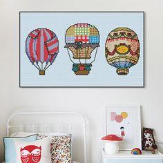 Cross stitch patterns baloons modern cross by SmartCrossStitch