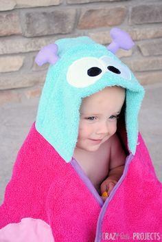 Butterfly hooded towel