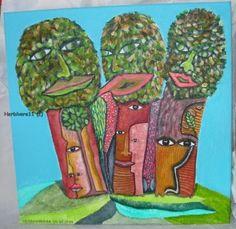 Tiere und Kunst von Herbivore11 - Der Baumrat tagt