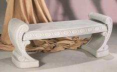 Neo Classic Bench by Henri Studio : Apollo Statuary: Statues, pedestals, planters, fountains, and much more! Concrete Bricks, Concrete Bench, Outdoor Garden Bench, Patio, Outdoor Decor, Furniture Styles, Table Furniture, Wall Mounted Planters, Adirondack Furniture