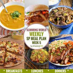 Slimming Eats SP Weekly Meal Plan - Week 5 - Slimming World Recipes - taking the work out of meal planning, so that you can just cook and enjoy the food. mama world recipes Sp Meals Slimming World, Slimming World Meal Planner, Slimming World Lunch Ideas, Slimming World Breakfast, Slimming World Recipes Syn Free, Slimming World Plan, Slimming Eats, Slimming Word, Vegetarian Cooking Classes