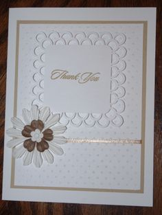 lovely and formal thank you card