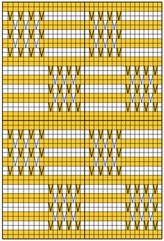 Charts for Machine knit pattern