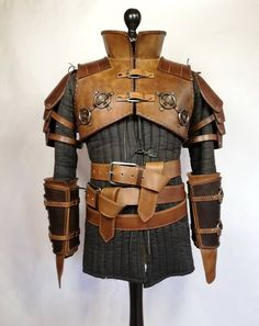 UK Medieval Viking Faux Leather Double Shoulder Armor For Larp Theatre Cosplay