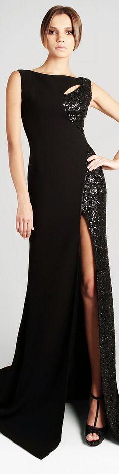 Georges Hobeika Spring Summer 2013 Ready to Wear #sexy #elegant #black #dress ♥