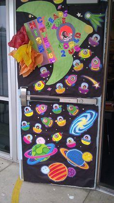 for teacher appreciation week. The theme you mean the world to us. Teacher Door Decorations, Class Decoration, Classroom Decor, Teacher Appreciation Week, Teacher Gifts, Art For Kids, Crafts For Kids, Teacher Doors, Art And Craft Videos