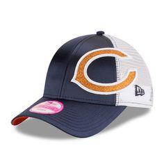 Women s Chicago Bears New Era Navy Team Glitzer 9FORTY Adjustable Hat Gorras ba508a80536