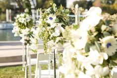 Aisle cluster detail at La Rivage Hotel in Sacramento