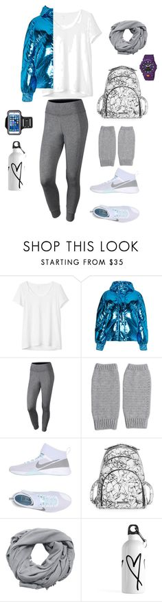 """Sporty"" by nadawahsh ❤ liked on Polyvore featuring Gap, Ienki Ienki, NIKE, NOVICA, Kendall + Kylie, MANGO and G-Shock"