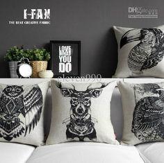 Wholesale Cushion - Buy !Phoenix Auspicious Totem Carved Owl Cut Cotton Pillow Retro Car Napping Cushion Cushion, $12.75 | DHgate