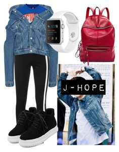 """""""J-Hope Dance"""" by flaviaazevedo2000 ❤ liked on Polyvore featuring Balenciaga, Topshop, Y-3 and WithChic"""