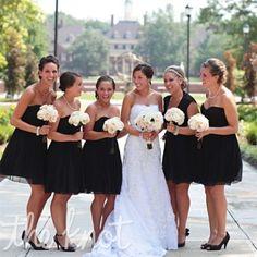 black is a great color to use for an elegant wedding. via:weddingomania