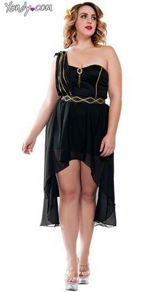 9912fd56a6 Plus Size Dark Roman Goddess Costume