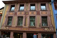 Facade of the Frey store in Ribeauville, Alsace, France ✯ ωнιмѕу ѕαη∂у