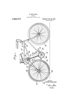 Bicycle Patent - 1918