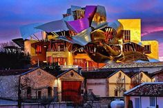 Marques de Riscal, Spain. Frank Gehry designed hotel and restaurant and winery