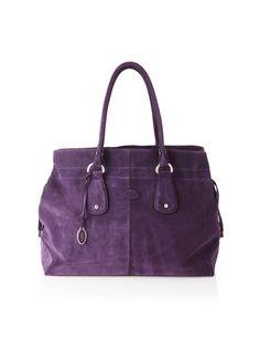 Tod's Women's Large Draw-Top Satchel, Purple, http://www.myhabit.com/ref=cm_sw_r_pi_mh_i?hash=page%3Dd%26dept%3Ddesigner%26sale%3DAZPSLI19DVUWZ%26asin%3DB0089F56CK%26cAsin%3DB0089F56CK