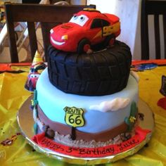 Luke's Lightening McQueen cake