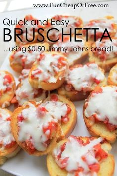 We made this and it was DELICIOUS!!! Quick and Easy Bruschetta Recipe (...like, 10 minutes, easy!) - Fun Cheap or Free