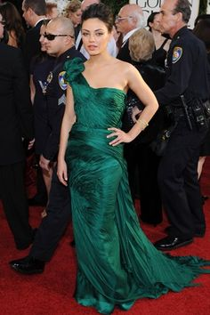 Mila Kunis - stunning in Emerald