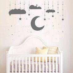 Amazing Kinderzimmerdekoration Exklusive Wandtattoo Kinderzimmer Mond und Stern ein Designerst ck von taia s