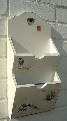 Wall Mounted Wooden Pigeon Hole Wall Shelf Office