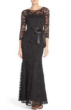 Free shipping and returns on Chetta B Peplum Lace Mermaid Gown at Nordstrom.com. Stretchy floral lace traces the timelessly flattering silhouette of a full-length evening gown shaped by a flared peplum waist echoed at the mermaid hem.