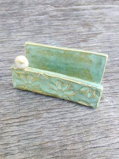 Handmade Ceramic Business Card Holder by PetitePotteryMarket, $21.50