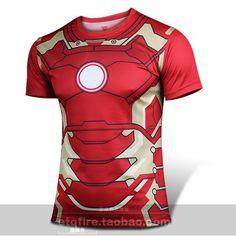 Fashion Marvel Armor Iron Man 3 Superhero t shirt