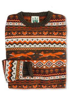 The Fantastic Fox Sweater – Kiel James Patrick Fox Sweater, Sweater Weather, Fall Sweaters, Sweaters For Women, Vintage Sweaters, Look Fashion, Winter Fashion, Fantastic Fox, Mode Vintage